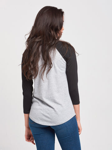 Rep City Raglan- Grey/Black