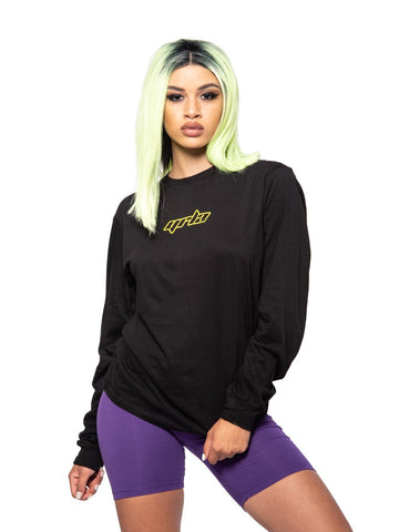 Reckless Girls Womens - Tops - Tees Saint Long Sleeve - Black