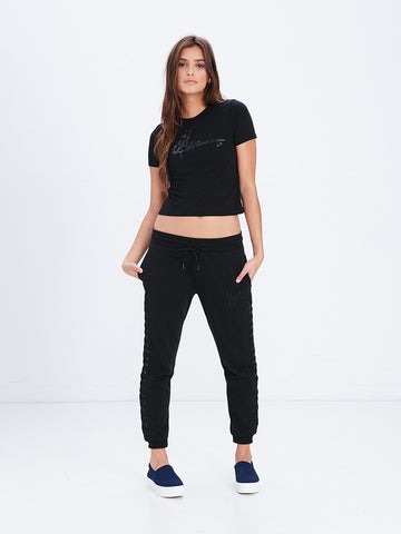 Reckless Girls Womens - Tops - Tees Signature Crop Tee