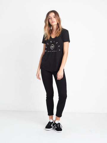 Reckless Girls Womens - Tops - Tees Skyline Scoop Neck Tee - Black