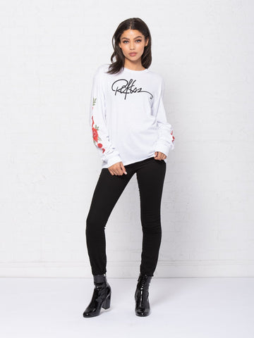 Tribute Jr Long Sleeve - White