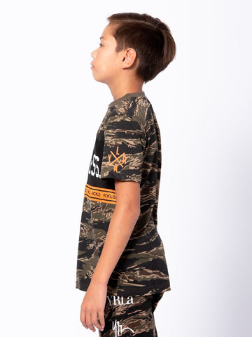 Youth Lane Change Converge Tee - Camo Green