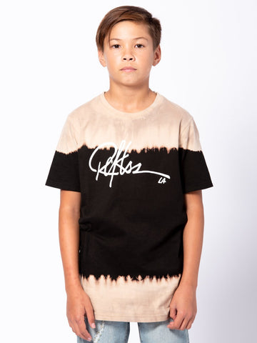 Young and Reckless Boys Youth - Tees - Graphic Tee Youth Signature Tee - Black/Tan