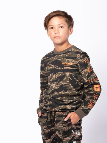 Youth Crossfade Long Sleeve - Camo Green