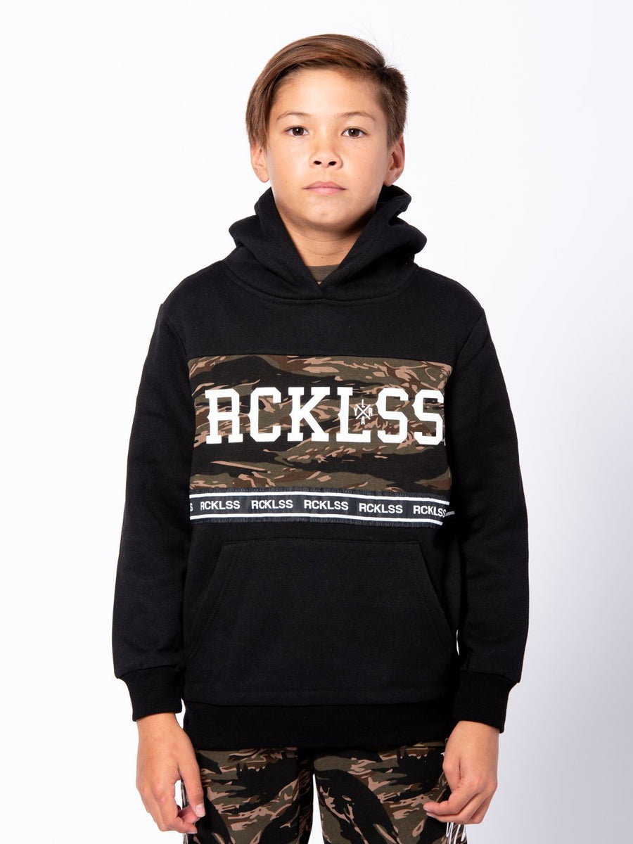 Young and Reckless Boys Youth - Tops - Hoodies Youth Lane Change Streamline Hoodie - Black