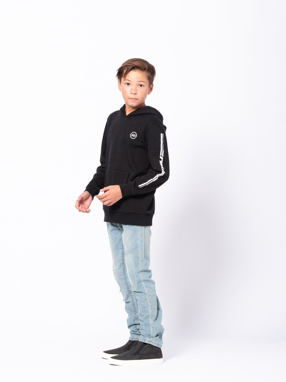 Young and Reckless Boys Youth - Tops - Hoodies Youth Racer Hoodie - Black