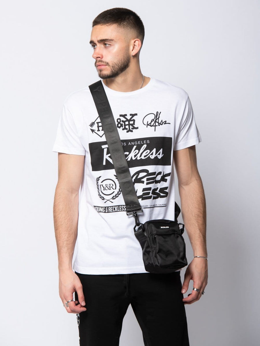 Young and Reckless Mens  - Core Shoulder Bag - Black/White