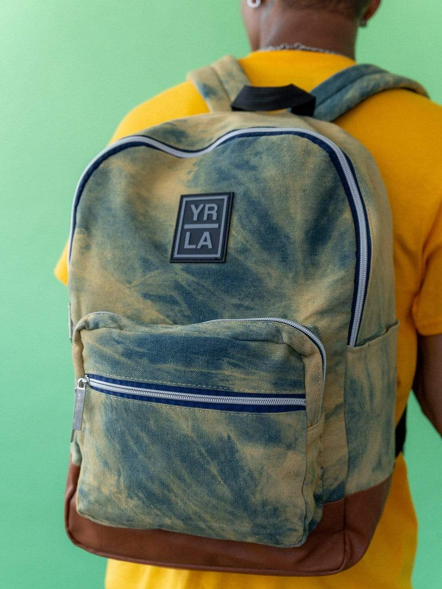Young and Reckless Mens - Accessories - Bags / Packs Hudson Backpack - Bleached Denim OS / DENIM