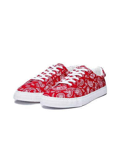 Young and Reckless Mens - Accessories - Footwear Carson Paisley - Red
