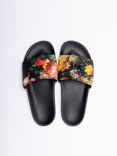 Young and Reckless Mens - Accessories - Footwear Pacific Bloom Slides - Black