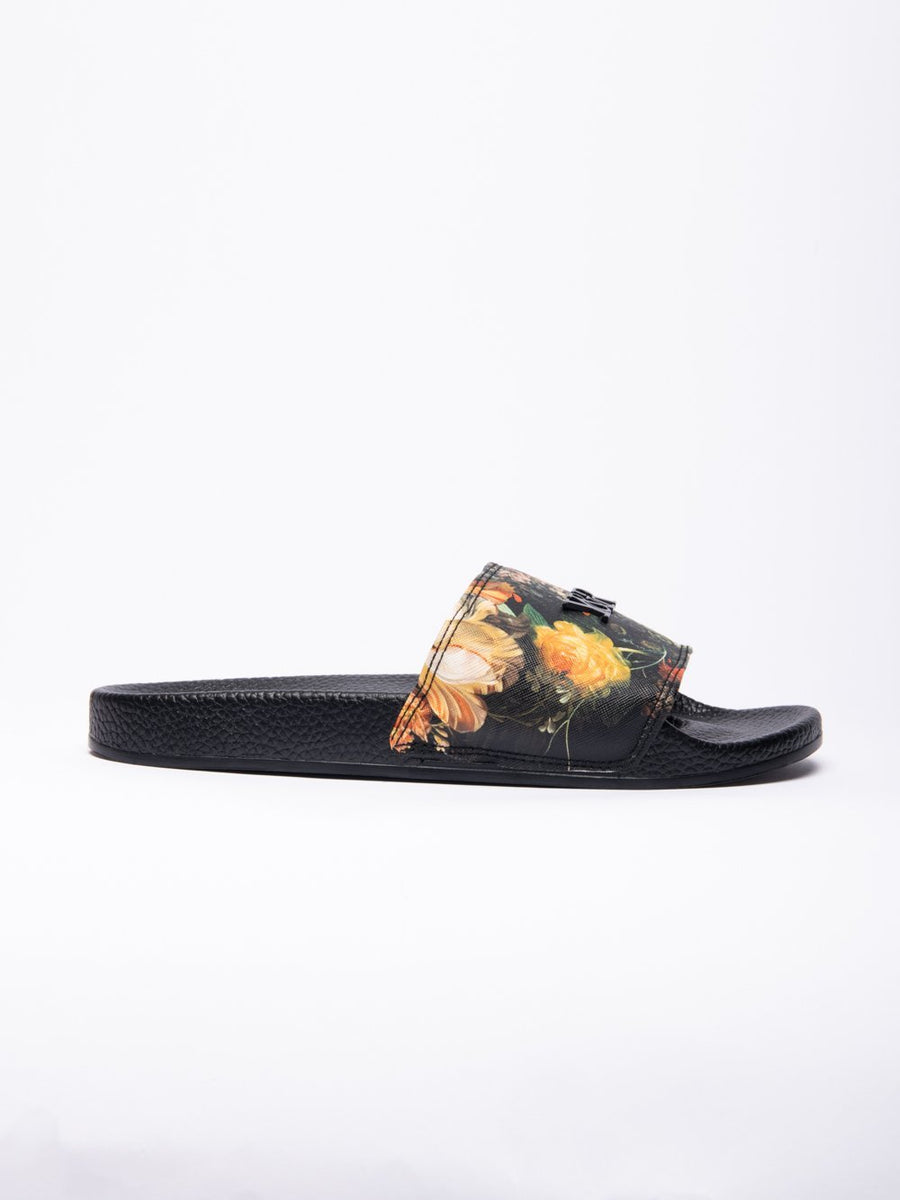 Pacific Bloom Slides - Black
