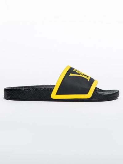 Young and Reckless Mens - Accessories - Footwear Trademark Slides - Black/Gold BLACK/GOLD / 7