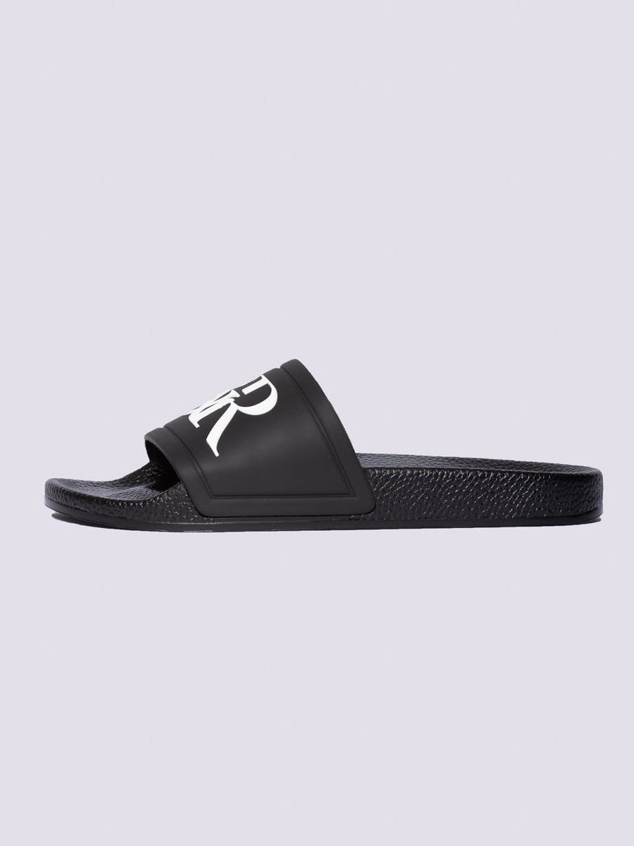 Young and Reckless Mens - Accessories - Footwear Trademark Slides - Black/White