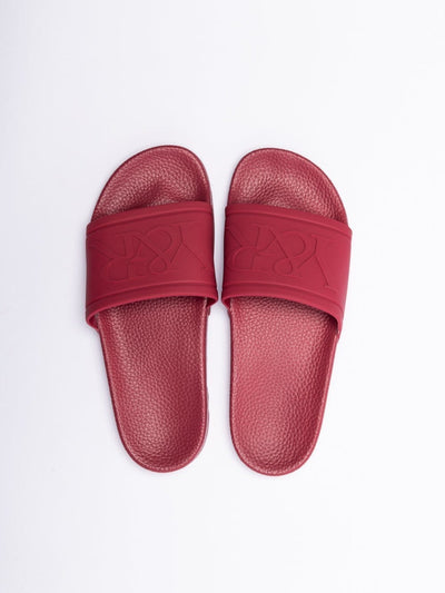Young and Reckless Mens - Accessories - Footwear Trademark Slides - Maroon 3M-5W / MAROON