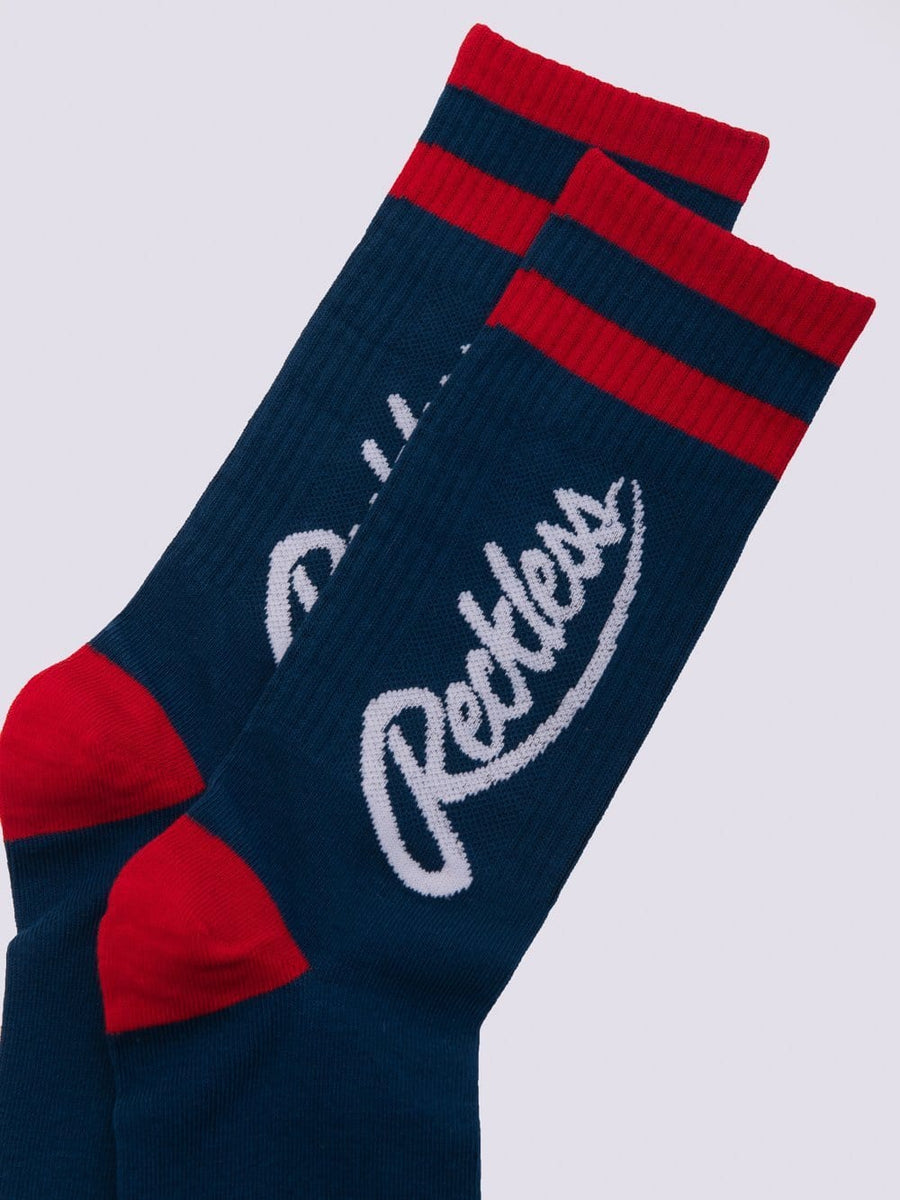 Big R Script Socks - Navy/Red