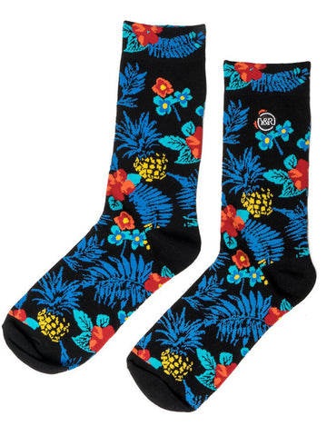 Young and Reckless Mens - Accessories - Socks Blue Maui Socks