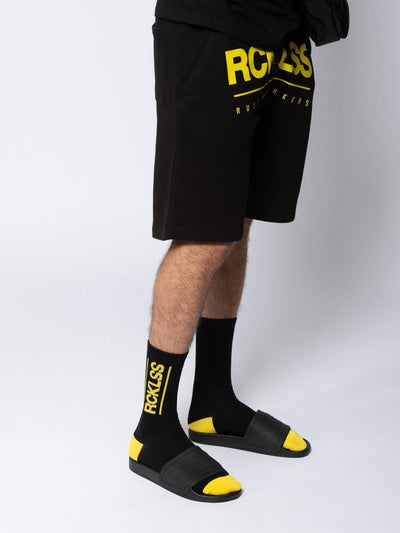Young and Reckless Mens - Accessories - Socks Hardline Socks - Black/Yellow OS / BLACK/YELLOW