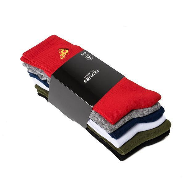 Young and Reckless Mens - Accessories - Socks Minimal Core Sock Bundle - Red/Multi