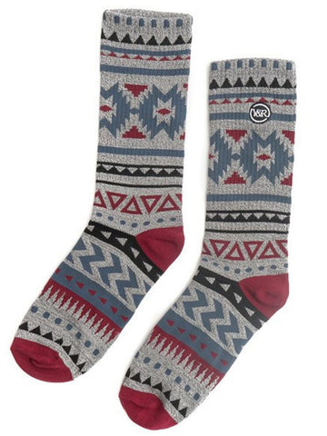 Young and Reckless Mens - Accessories - Socks Native Socks - Grey/Multi