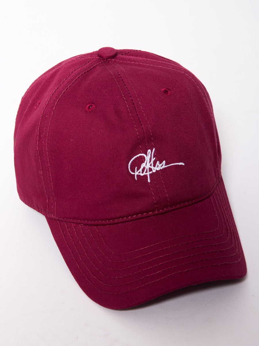 Young and Reckless Mens - Accessories - Socks Signature Dad Hat - Burgundy