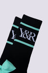 Young and Reckless Mens - Accessories - Socks Trademark Socks - Black/Ice OS / BLACK