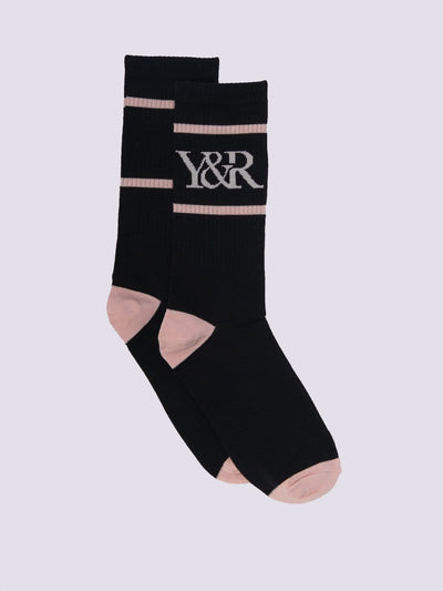 Young and Reckless Mens - Accessories - Socks Trademark Socks - Black/Rose OS / BLACK/ROSE