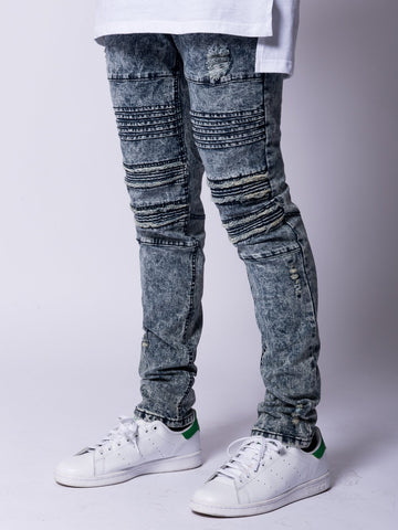 Young and Reckless Mens - Bottoms - Denim Cezare Jeans- Grey