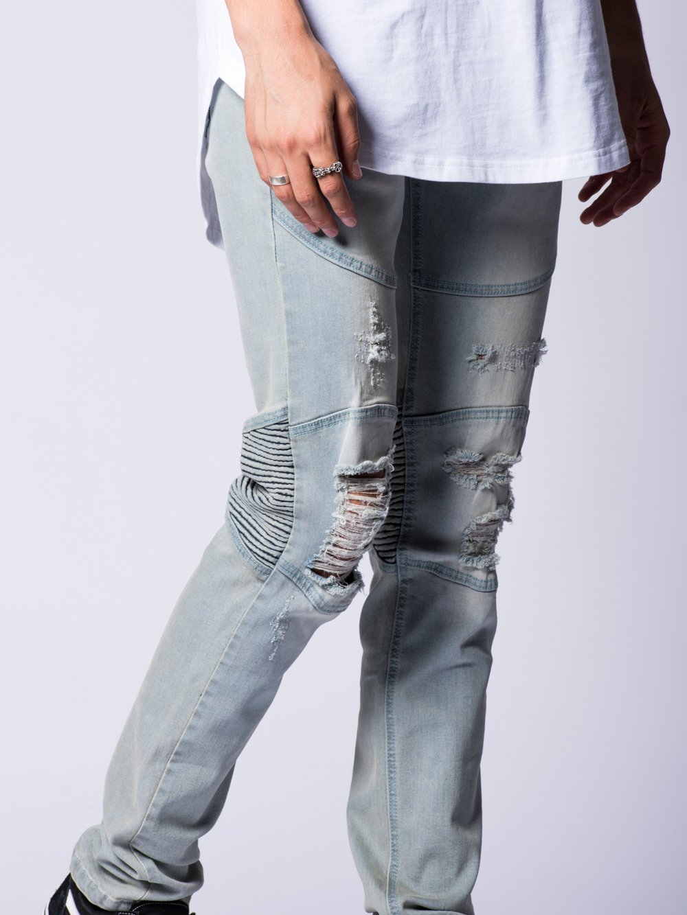 Young and Reckless Mens - Bottoms - Denim Edward Jeans- Light Blue
