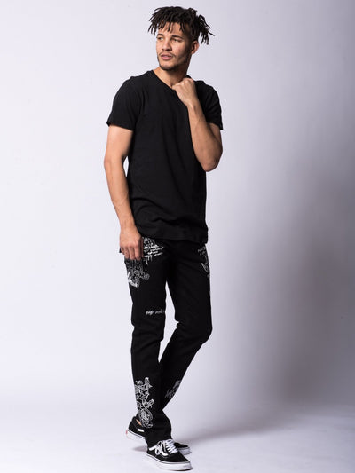 Young and Reckless Mens - Bottoms - Denim Griffon Jeans