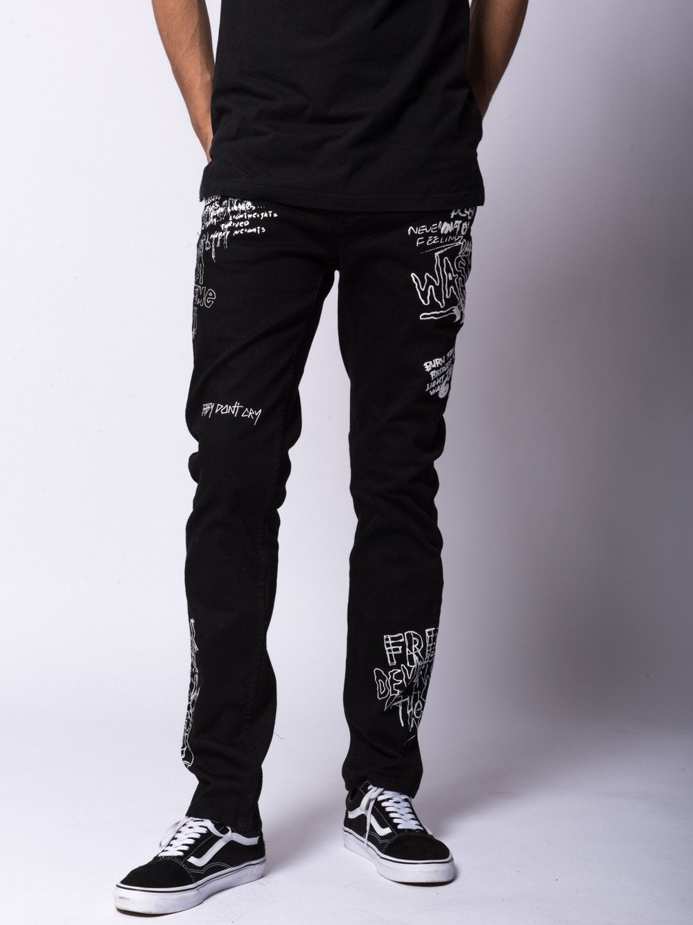 c9f654ac Young and Reckless Mens - Bottoms - Denim Griffon Jeans