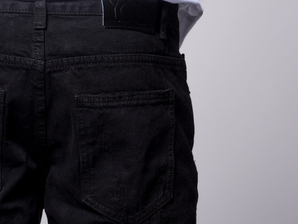 Young and Reckless Mens - Bottoms - Denim Harrington Tapered Jeans- Black