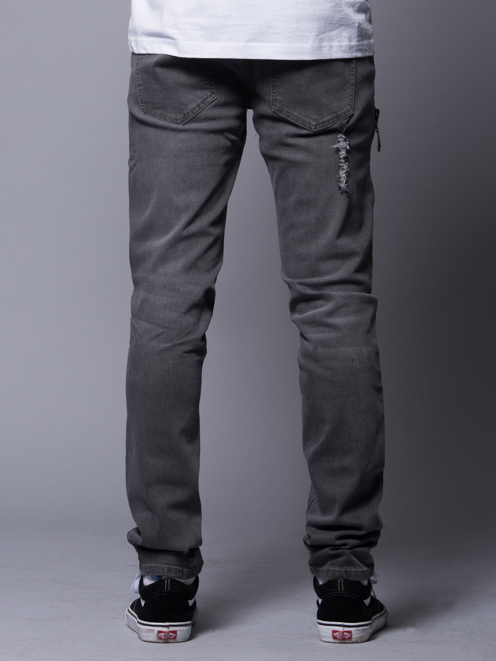 Young and Reckless Mens - Bottoms - Denim Hermosa Skinny Jean- Grey