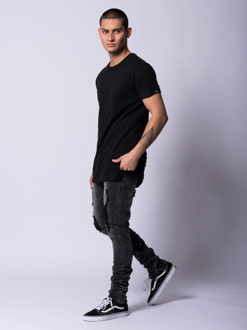 Jefferson Tapered Jeans- Black