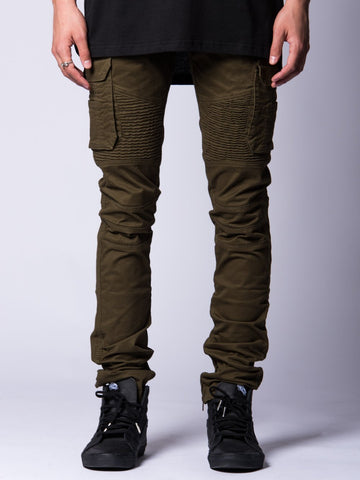 Young and Reckless Mens - Bottoms - Denim Lambert Pants- Olive
