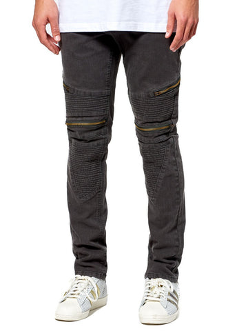 Young and Reckless Mens - Bottoms - Denim Lancer Premium Racer Jean - Olive