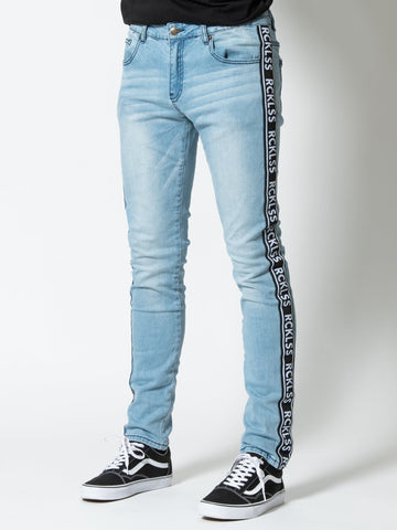 Young and Reckless Mens - Bottoms - Denim Pursuit Denim - Blue 28 / LIGHT INDIGO