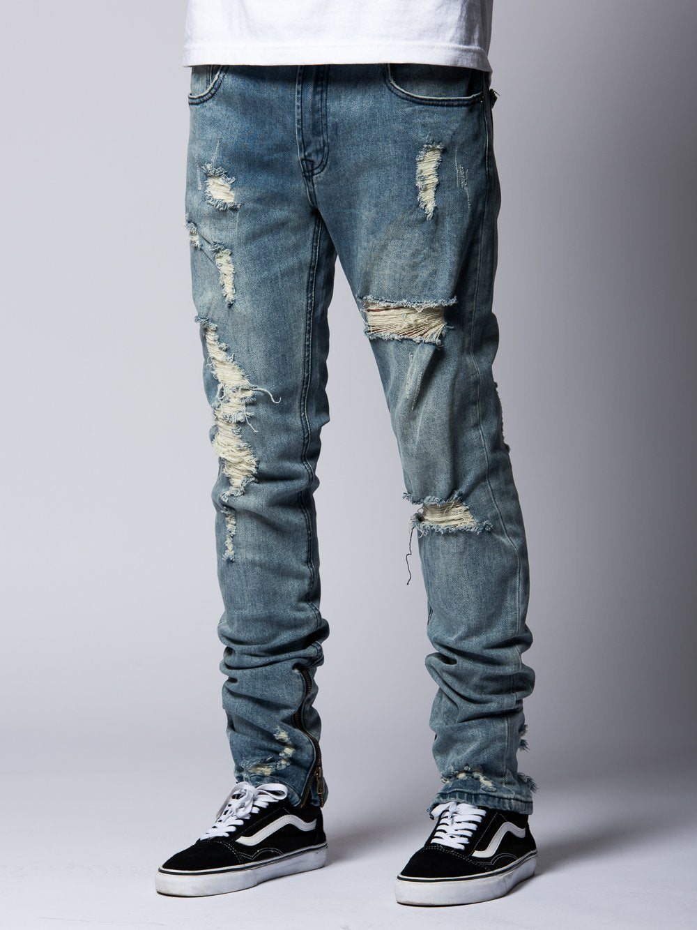 Young and Reckless Mens - Bottoms - Denim Robertson Tapered Jeans- Indigo