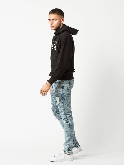 Young and Reckless Mens - Bottoms - Denim Roland Tapered Jeans - Acid Blue Bleach