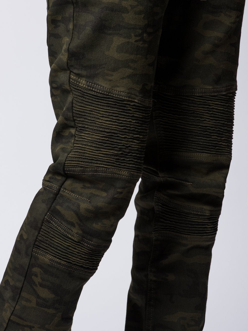 Young and Reckless Mens - Bottoms - Denim Sensei Skinny Moto Jeans- Camo