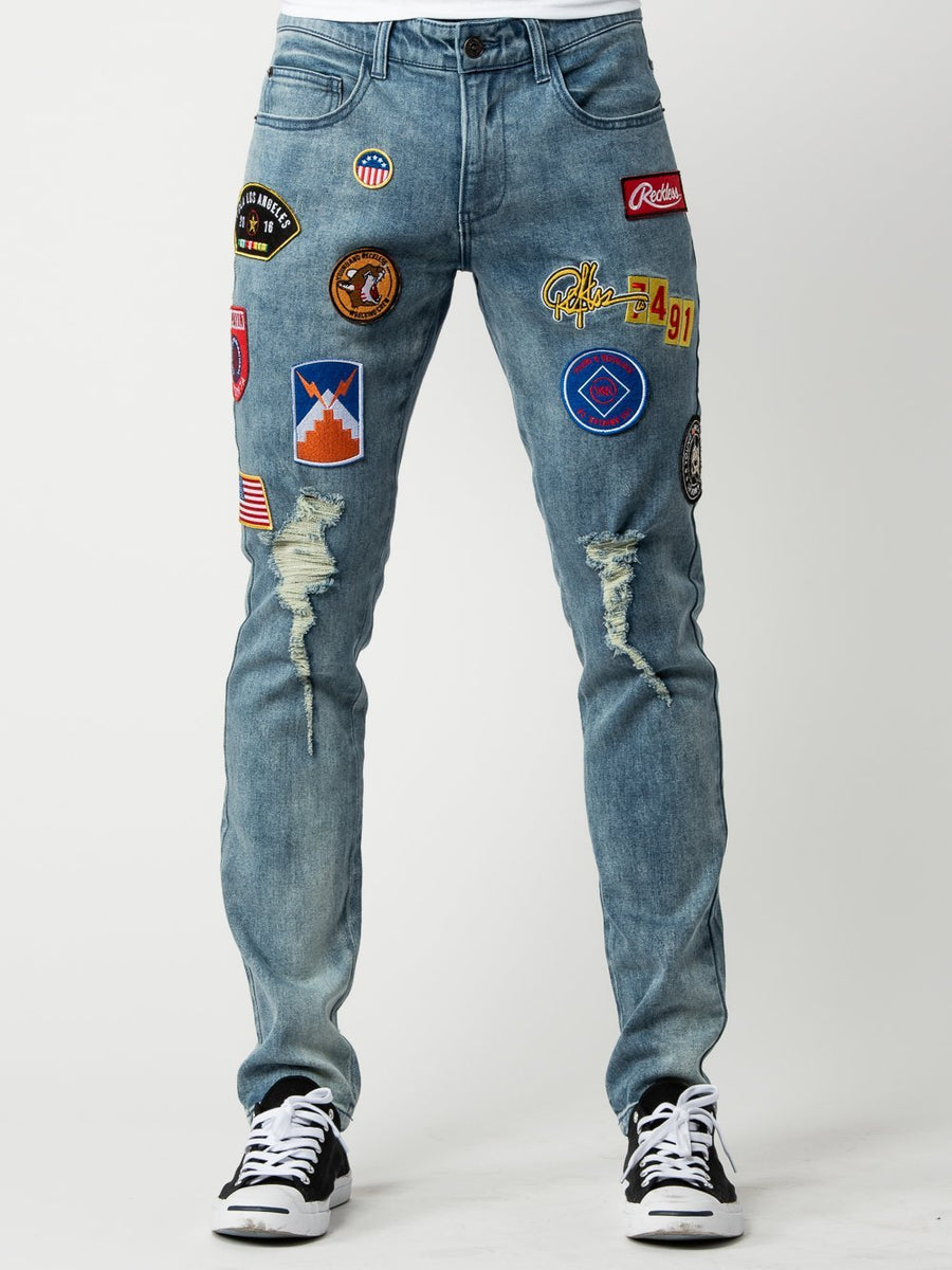 Young and Reckless Mens - Bottoms - Denim Shellback Jeans - Indigo Blue