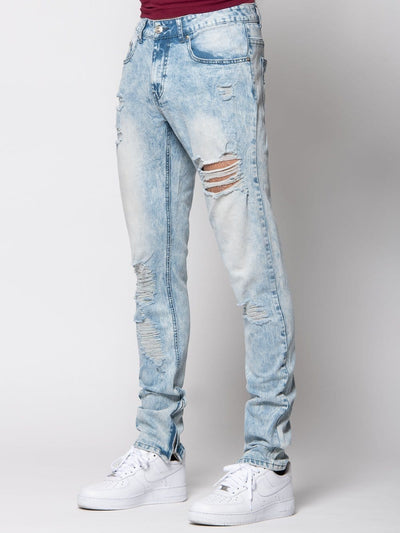 Young and Reckless Mens - Bottoms - Denim Slate Denim - Acid 28 / ACID
