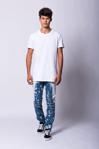 Young and Reckless Mens - Bottoms - Denim Spencer Jeans- Indigo/White