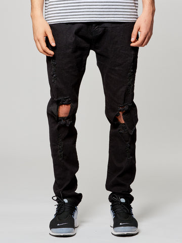 Young and Reckless Mens - Bottoms - Denim Syrus Jeans- Black