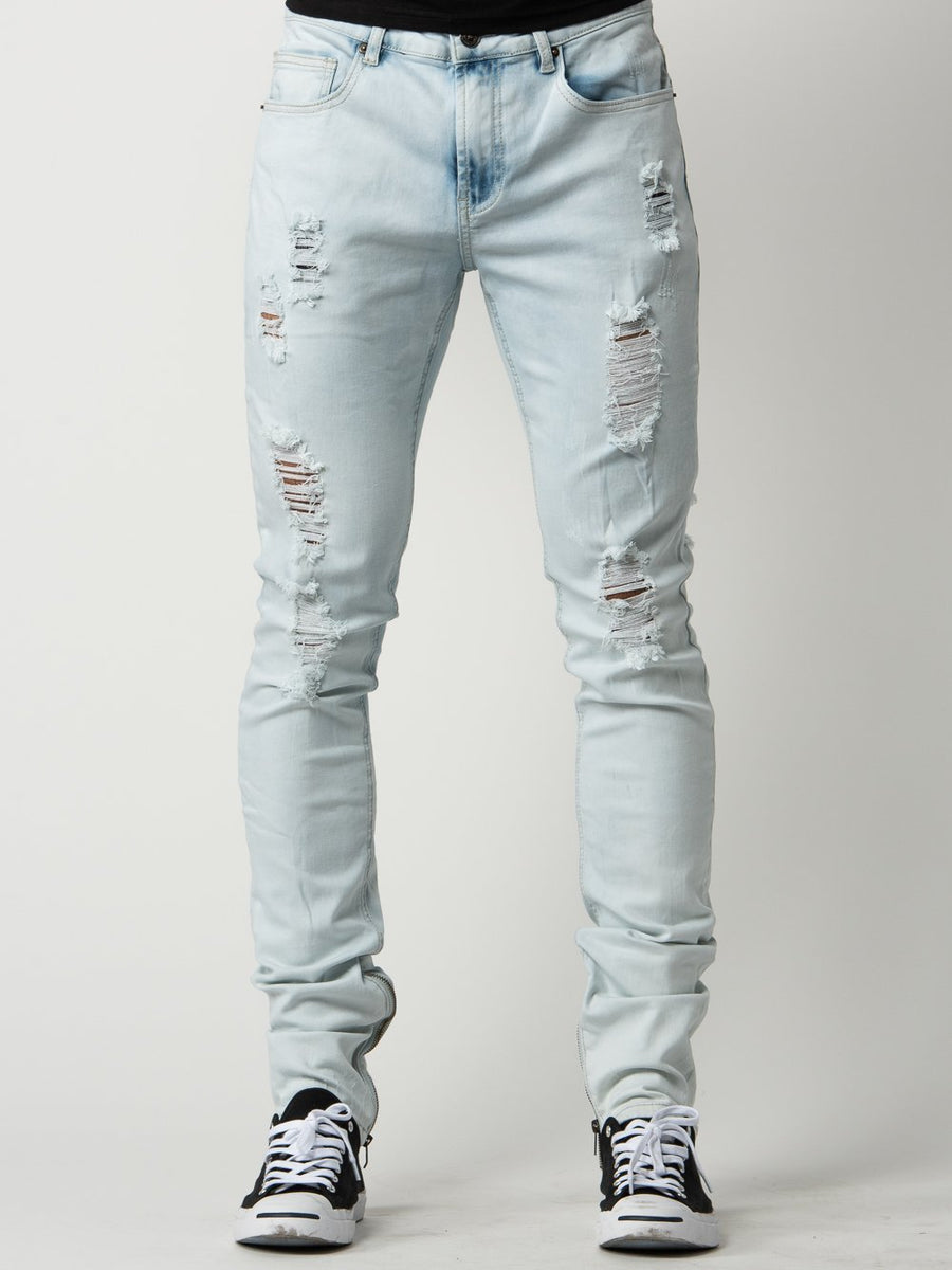 Walker Tapered Jeans - Bleach Blue