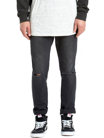 Young and Reckless Mens - Bottoms - Denim Wilshire Slim Straight Denim- Black