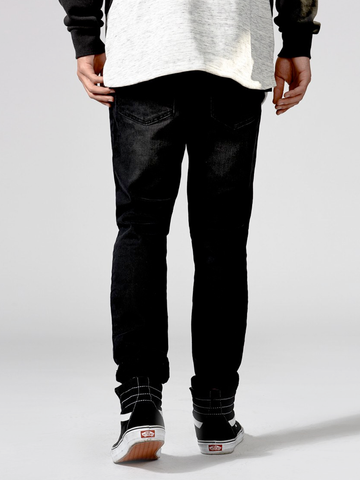 Wilshire Slim Straight Denim- Black