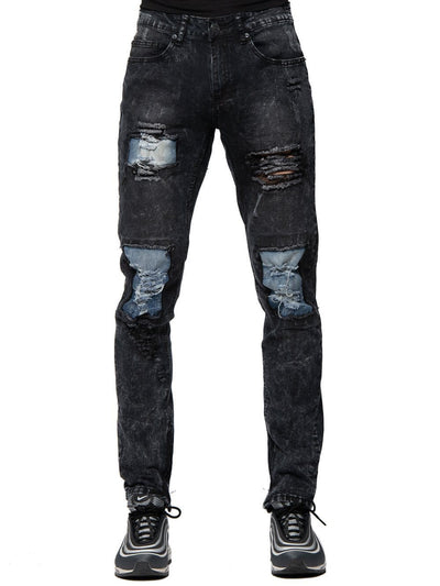 Young and Reckless Mens - Bottoms - Denim Zander Tapered Denim - Black 28 / BLACK