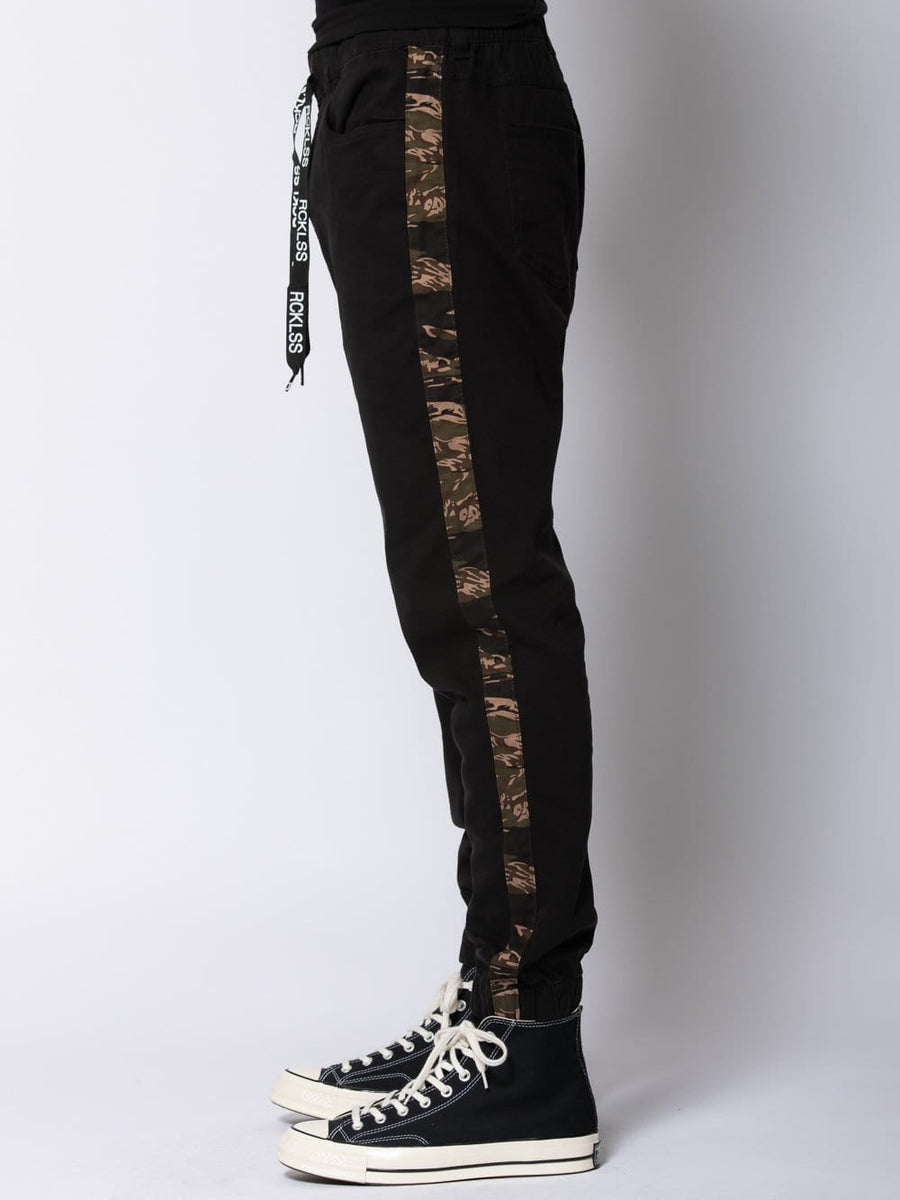 Young and Reckless Mens - Bottoms - Joggers Intrepid Joggers - Black