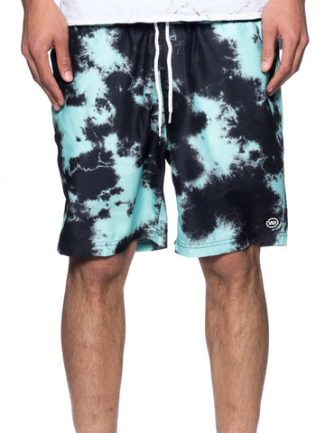 Young and Reckless Mens - Bottoms - Shorts Lucid Dreams Boardshorts - Dye/Green