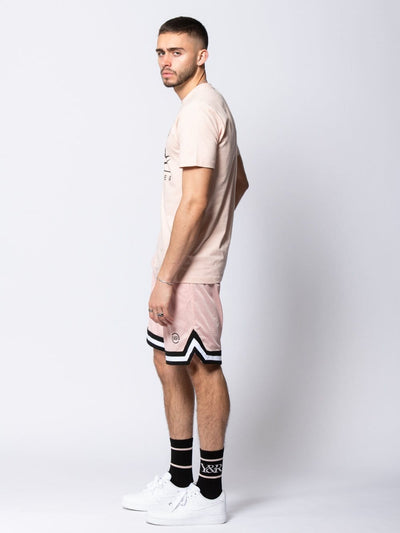 Young and Reckless Mens - Bottoms - Shorts Nitrous Basketball Shorts - Rose S / ROSE